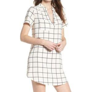 Like New Black Ivory Windopane Mini Dress sz M